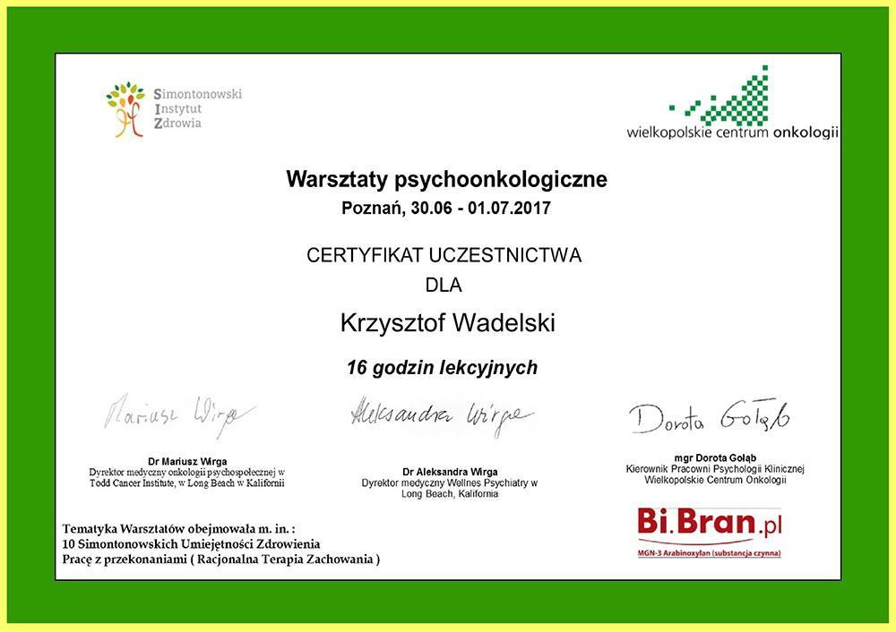 warsztaty-psychoonkologiczne-07-2017-certyfikat-krzysztof-wadelski